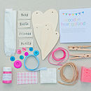 Wooden Heart Garland Craft Kit