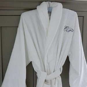 Monogrammed Bath Robe - the morning of the big day