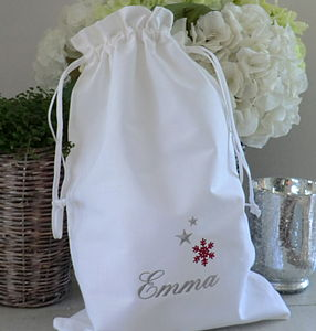 Personalised Christmas Drawstring Bag - stockings & sacks