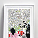 Vintage London Map Mixed Media Art Print Or Canvas
