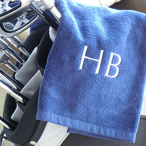 Personalised Golf Towel - gifts under £25 for him