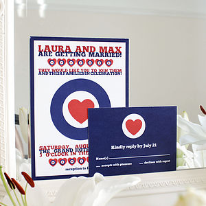 Modern Love Wedding Stationery Range - save the date cards