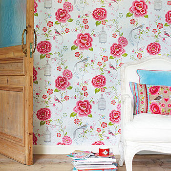 PiP Studio Birds in Paradise wallpaper in White