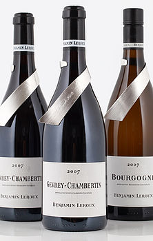 Personalised Lexi Leroux Silver Wine Label