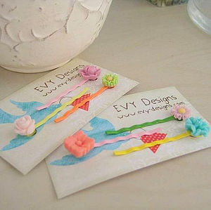 Chelsea Flower Hair Clip Set