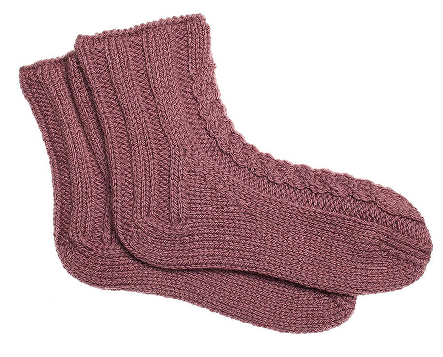 hand knitted bed socks by roost living notonthehighstreet.com