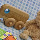 Wooden Push Along Elephant On Wheels