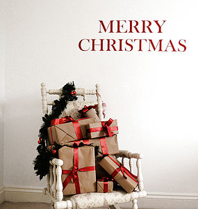 Merry Christmas Wall Stickers - wall stickers