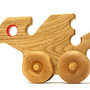 Wooden Toy Push Along Red Dragon