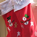 The Personalised Snowman Christmas Stocking