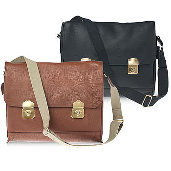 Clifton Leather Padded Laptop Satchel