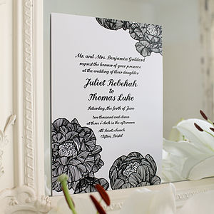 Summer Scent Wedding Stationery Range - save the date cards