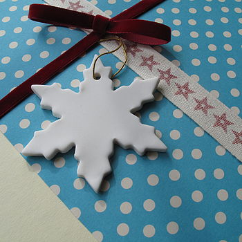 Porcelain Snowflake Decorations