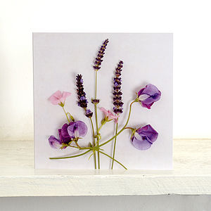 Five Floral Blank Greetings Card