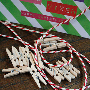Bakers Twine & Peg Card Hanging Kit - christmas craft ideas