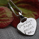 Girl's Sterling Silver Guardian Angel Necklace