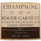 Personalised Champagne or Wine Label - summer shop