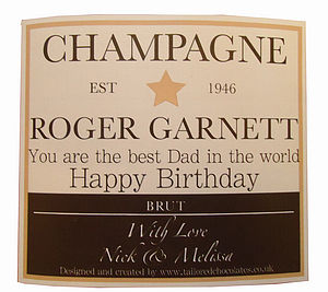 Personalised Champagne or Wine Label