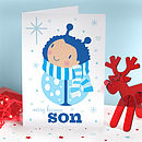 Son Boy Bug Christmas Card