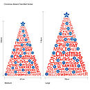Advent Tree Wall Sticker Dimensions