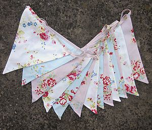 Shabby Chic Floral Bunting
