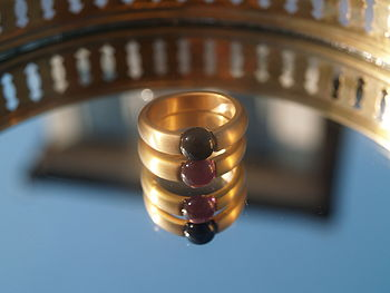 Jet black and amethyst stacking rings