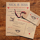 Vintage Seaside Wedding Stationery Range