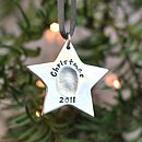 Personalised Fingerprint Silver Star