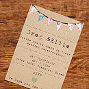 Bunting Wedding Stationery Range