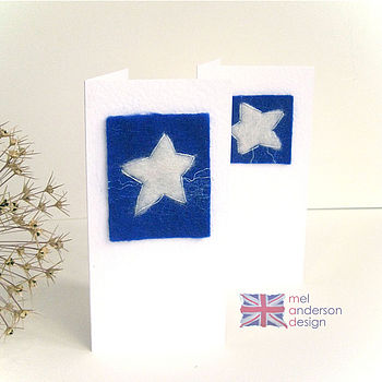 Hand Felted Personalised Star Card