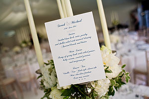 Bespoke Table Menu - table decorations