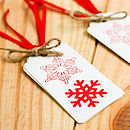 Big Bold Snowflakes White Gift Tags