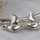 Silver Love Birds Bangle