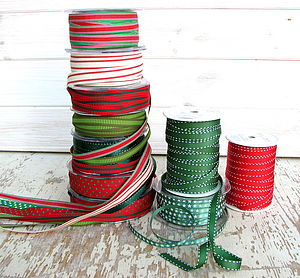 Red & Green Ribbon Collection