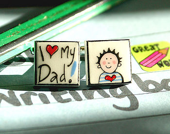 I Love My Daddy Boy China Cufflinks