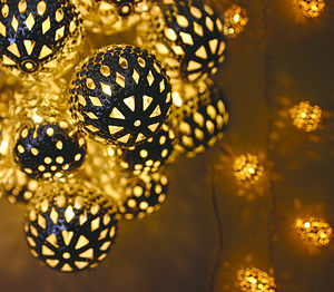 Decorative Moroccan-Style Light String - lighting