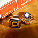 Pantone Enamelled Reversible Cufflinks