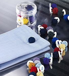 Button Knot Cufflink Colour Pots