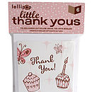Six Pack Little Thank You Cards: Cupcakes