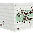 Six Pack Little Thank You Cards: Stars