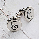 Personalised Silver Initial Cufflinks