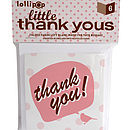 Six Pack Little Thank You Cards: Pink Bird