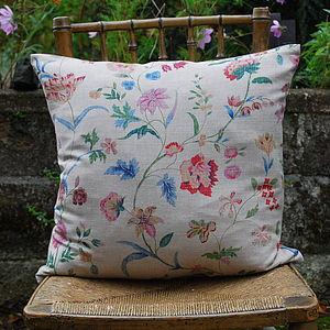 Floral Printed Linen Cushion - cushions