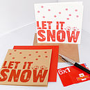 Let It Snow Letterpress Christmas Card