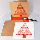 'Snow Tree' Letterpress Christmas Card