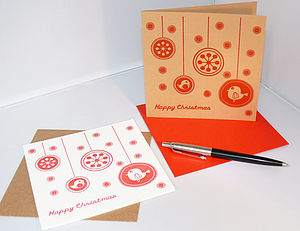 'Flurry' Letterpress Christmas Card - cards & wrap