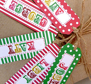 Set Of 10 Personalised Gift Tags