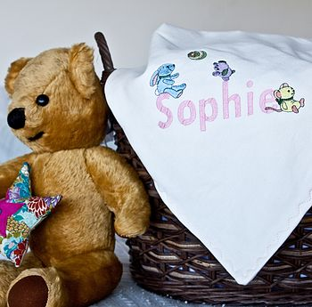 Organic Baby Name Nursery Blanket