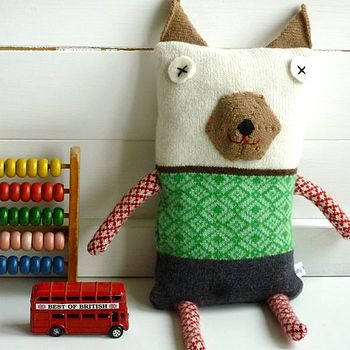 Knitted Lambswool Fairisle Dog