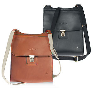 Clifton Large Leather Messenger Bag